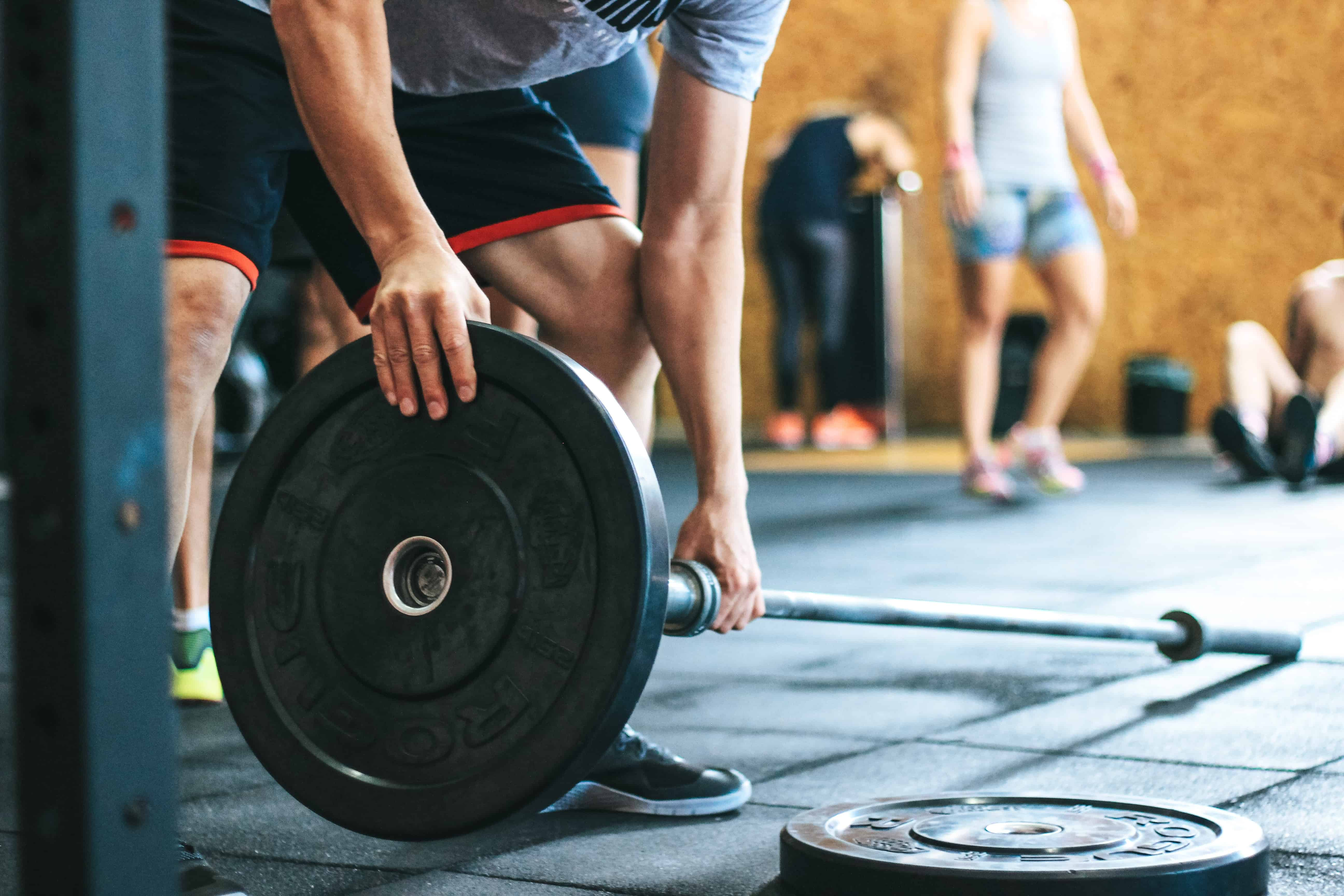 weight training using barbell
